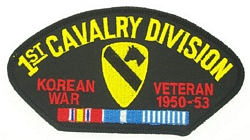 1st Cavalry Division Korean War Veteran Patches